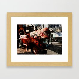 left turn, or transcendence of time and place Framed Art Print