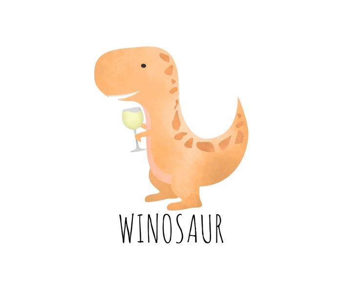 Winosaur | White Wine Metal Travel Mug