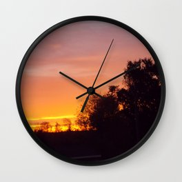 Northern Sunset  Wall Clock