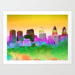 Philadelphia maneto Art Print