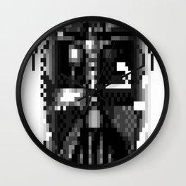 Darth-Vader-Pixel-Face Wall Clock