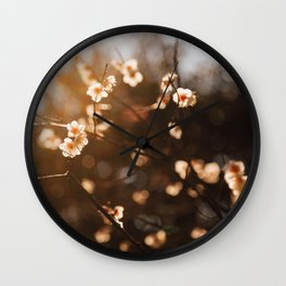 Japanese Plum Blossoms Wall Clock