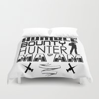 bebop Duvet Covers featuring Quote Bebop by AngoldArts