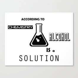 Can't Argue With Science Canvas Print