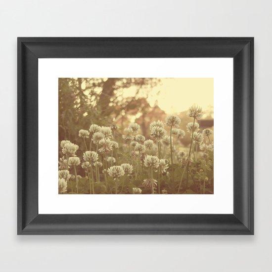Sweet Sweet Clover Framed Art Print