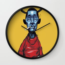 angels and demons Wall Clock