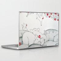 pigs Laptop & iPad Skins featuring Flying Pigs by Joshua James Stewart