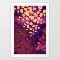 yellow hearts Art Print