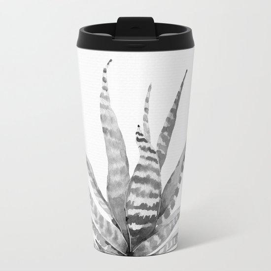 Southwest Minimalist Echeveria Metal Travel Mug