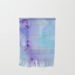 Abstract Watercolor Art Blue And Purple Modern Painting Wall Hanging