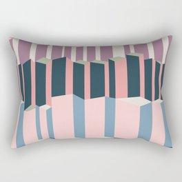 Straight Geometry City 1 Rectangular Pillow