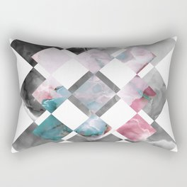 MARBLED ONYX & GEOMETRIC II Rectangular Pillow
