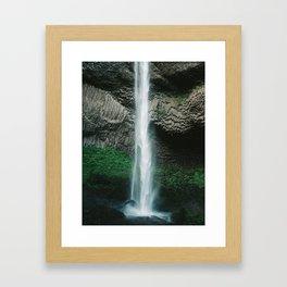 Oregon Waterfall Framed Art Print