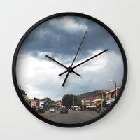 greece Wall Clocks featuring Greece by Pauline Gauer