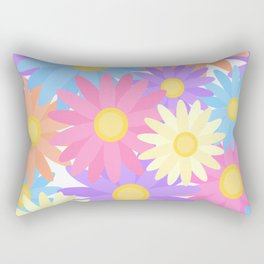 Floral Daisy Dahlia Flower Rectangular Pillow