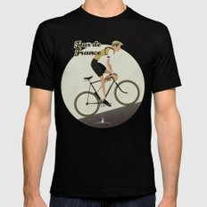 Tour De France Black Mens Fitted Tee MEDIUM