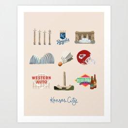 Kansas City, Missouri Art Print