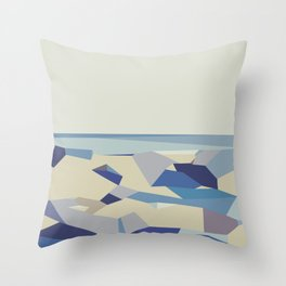 blue purple and dark blue abstract background Throw Pillow