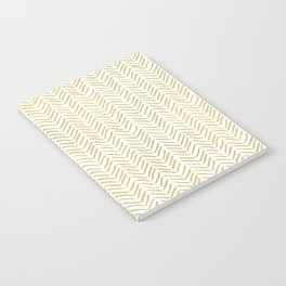 Handpainted Chevron Pattern - Gold and white Notebook
