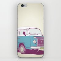 vw bus iPhone & iPod Skins featuring VW Combi v.02 by CranioDsgn