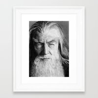 gandalf Framed Art Prints featuring Gandalf by scottmitchell