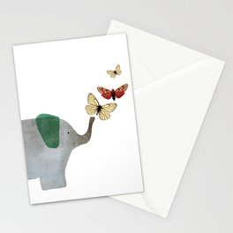 Elephant and friends Stationery Cards