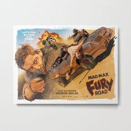 Fury Road Movie Poster - Grindhouse Metal Print