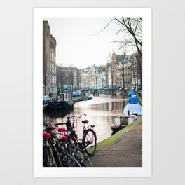 Amsterdam Canal by Morning Art Print