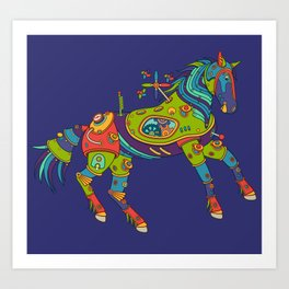 Horse, cool wall art for kids and adults alike Art Print