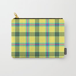 lemon love plaid with a dash of pink and blue Carry-All Pouch