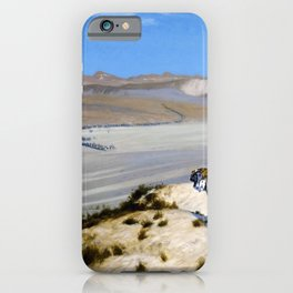 Jean-Leon Gerome - Tiger On The Watch - Digital Remastered Edition iPhone Case