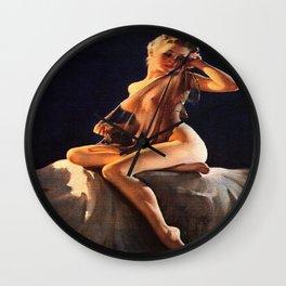 Pin Up Girl Adoration Gil Elvgren Wall Clock