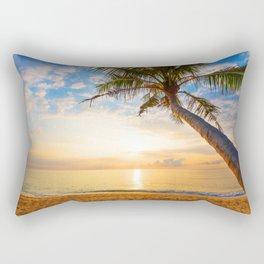 Coconut tree on the beach Rectangular Pillow