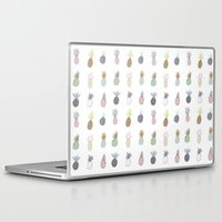pineapples Laptop & iPad Skins featuring Pineapples by surfed