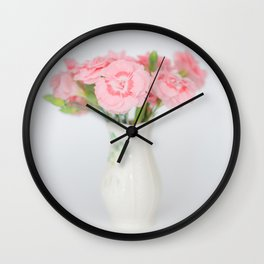 Pink Carnations 1 Wall Clock