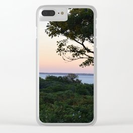 When the Night Sky Touches the Ocean Clear iPhone Case