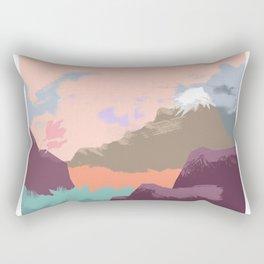 Pink Sky Mountain Rectangular Pillow