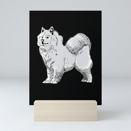 Samoyed Sled Dog Gift Mini Art Print