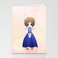 bioshock infinite Stationery Cards featuring Bioshock Infinite - Elizabeth Angel by Choco-Minto
