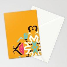 Orange Arabic Stationery Cards