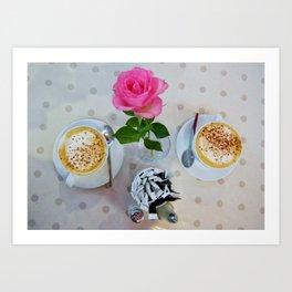 """Kate's Kitchen Cappuccino""   Art Print"