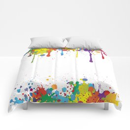 Paint Watercolor Splatter Comforters