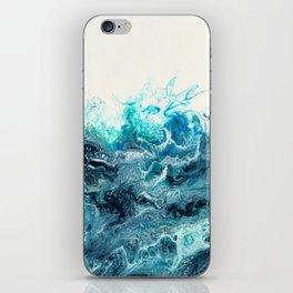 Green Wave #1 iPhone Skin