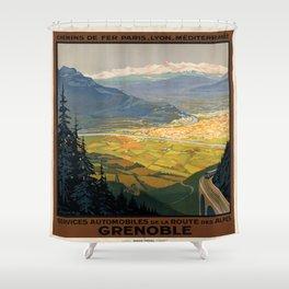 Vintage poster - Grenoble Shower Curtain