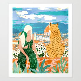 The Italian View #painting #illustration Art Print