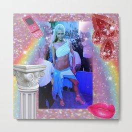 Paris Hilton Metal Print
