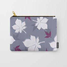 Serene Leaves Pattern Carry-All Pouch