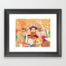Summer festival Framed Art Print