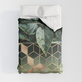 Leaves And Cubes 2 Comforters