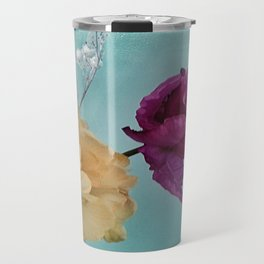 Tulips on Baby Blue Travel Mug
